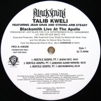 BLACK SMITH/TALIB KWELI / BLACK SMITH LIVE AT THE APOLLO