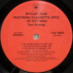 画像1: Wyclef Jean featuring Claudette Ortiz of City High - Two Wrongs