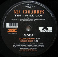NU COLORS / YES I WILL - JOY